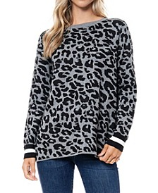 Leopard Jacquard Sweater Tunic