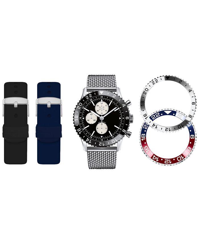 American Exchange - Men's Interchangeable Strap & Bezel Watch 46mm