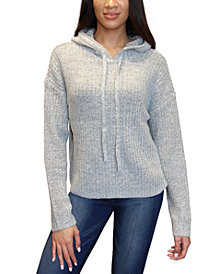 Crave Fame Juniors' Cozy Ribbed-Knit Hoodie Sweater
