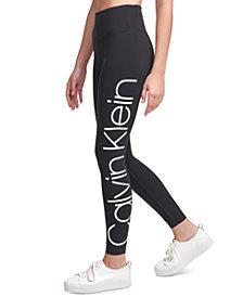 Calvin Klein Performance Jumbo-Logo High-Waist Leggings
