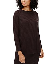 Crewneck Ribbed-Knit Sweater, Regular & Petite