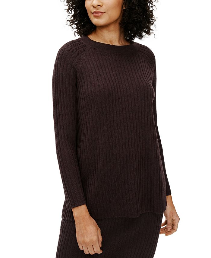 Eileen Fisher - Crewneck Ribbed-Knit Sweater