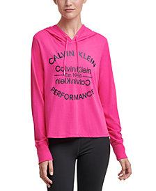 Calvin Klein Performance Logo Hooded T-Shirt