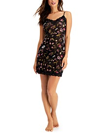 INC Floral-Print Sheer Chemise Nightgown, Created for Macy's