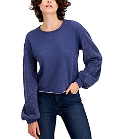 INC Embellished-Sleeve Sweatshirt, Created for Macy's