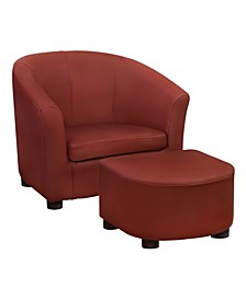 Juvenile Chair and Ottoman, 2 Piece Set
