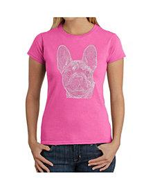 La Pop Art Women's T-Shirt with French Bulldog Word Art