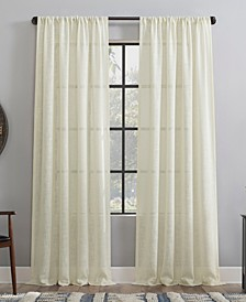 Basket weave Dust Resistant Semi-Sheer Curtain Panel Collection
