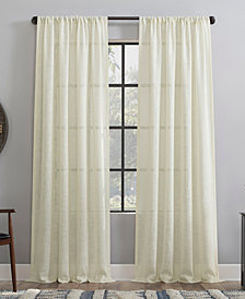 Clean Window Basket weave Dust Resistant Semi-Sheer Curtain Panel Collection