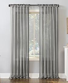 "Bethany Slub Textured Sheer Tie Top Curtain Panel, 50"" x 96"""