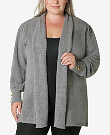 Adrienne Vittadini Women's Plus Size Cardigan Sweater