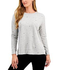 Heart-Print Sweatshirt, Created for Macy's