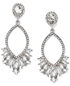 INC Multi-Crystal Open Drop Earrings, Created for Macy's