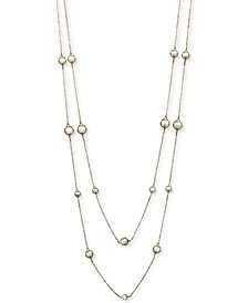 """INC Gold-Tone Imitation Pearl 60"""" Long Necklace, Created for Macy's"""
