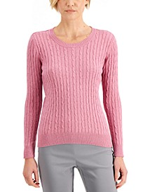 Cable-Knit Crewneck Sweater, Created for Macy's