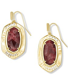 Pavé & Stone Drop Earrings