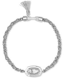 Stone Pendant Thread & Chain Bracelet