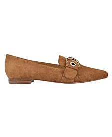 Women's Alaya Belted Square Toe Loafers