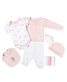 Baby Girls Ballerina Mouse 9 Piece Quilted Layette Gift Set