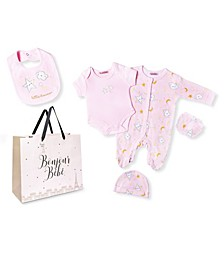 Baby Girls Little Dreamer Footie 5 Piece Layette Gift Set