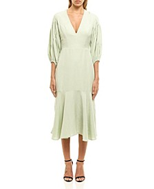 Women's Billowy Linen Dress