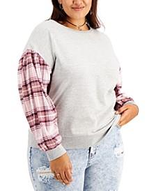 Trendy Plus Size Balloon-Sleeve Pullover
