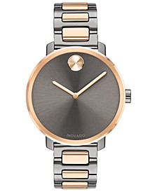 Women's Swiss BOLD Two-Tone Stainless Steel Bracelet Watch 34mm