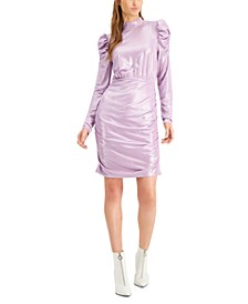 Foiled Ruched Mini Dress, Created for Macy's