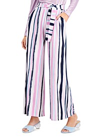 Striped Knit Wide-Leg Pants, Created for Macy's