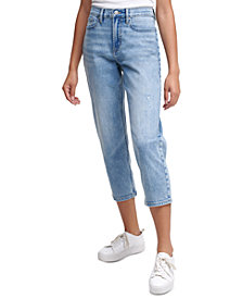 Calvin Klein Jeans High-Rise Cropped Straight-Leg Jeans