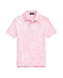 Big Boys Pink Pony Tie-Dye Polo Shirt