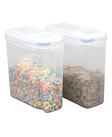 Vintiquewise Small Bpa-Free Plastic Food Cereal Containers with Airtight Spout Lid, Set of 2