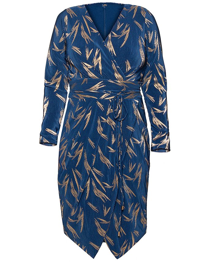 RACHEL Rachel Roy - Plus Size Sylvia Printed Dress