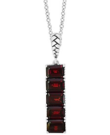 "EFFY® Rhodolite Garnet Vertical Bar 18"" Pendant Necklace (6-1/5 ct. t.w.) in Sterling Silver"