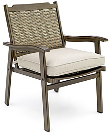 Kathan Outdoor Dining Chair with Sunbrella® Cushion, Create for Macy's