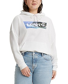 Trendy Plus Size Graphic Hoodie
