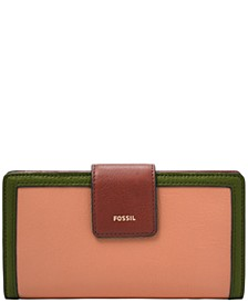 Women's Logan Tab Leather Clutch Wallet