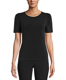 Solid Puff-Sleeve Top, Created for Macy's