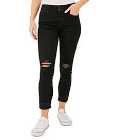 Ripped Cuffed Skinny Jeans