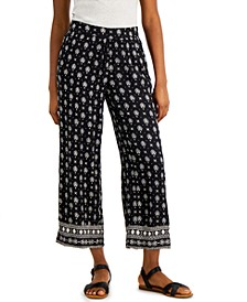 Petite Etched-Border Wide-Leg Pants, Created for Macy's