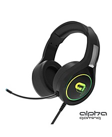 Alpha Gaming Dragon Headset – RGB LED 2.1 Stereo Wired Gaming Headset with 3.5mm Jack for Both Console and PC Gaming