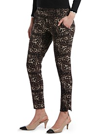Leopard-Print Ponté-Knit 7/8 Leggings