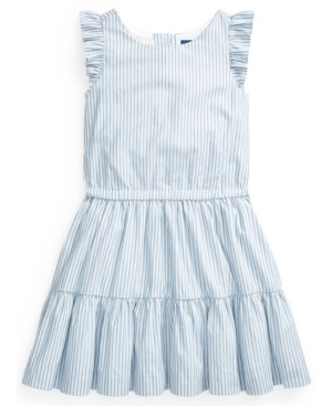 Polo Ralph Lauren POLO TODDLER GIRL STRIPED TIERED COTTON DRESS