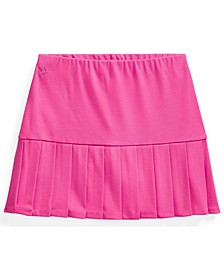 Big Girl Pleated Stretch Ponte Skort