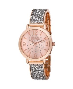 Women's Silver-Tone Alloy Bracelet Glitz Watch