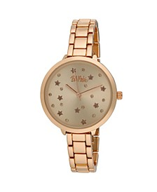 Women's Pink Alloy Bracelet Link Watch, 36mm