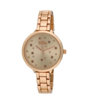 Women's Pink Alloy Bracelet Link Watch