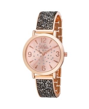 Women's Black Alloy Bracelet Glitz Watch
