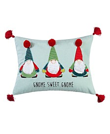 """Home Merry Bright Gnome for the Holidays Sweet Merry Bright Gnome 18"""" X 14"""" Pillow"""