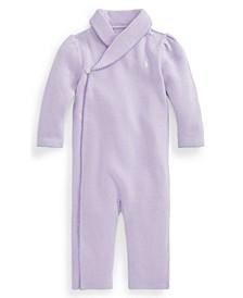 Ralph Lauren Baby Girls Shawl Collar Coverall